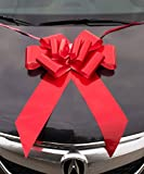 "Giant Red Bow for Cars 23"" Perfect on a New Car Big Bows Tie, for Birthday Gifts on Graduation Gifts, New Houses, Christmas Presents. A Multipurpose Bow for Many"