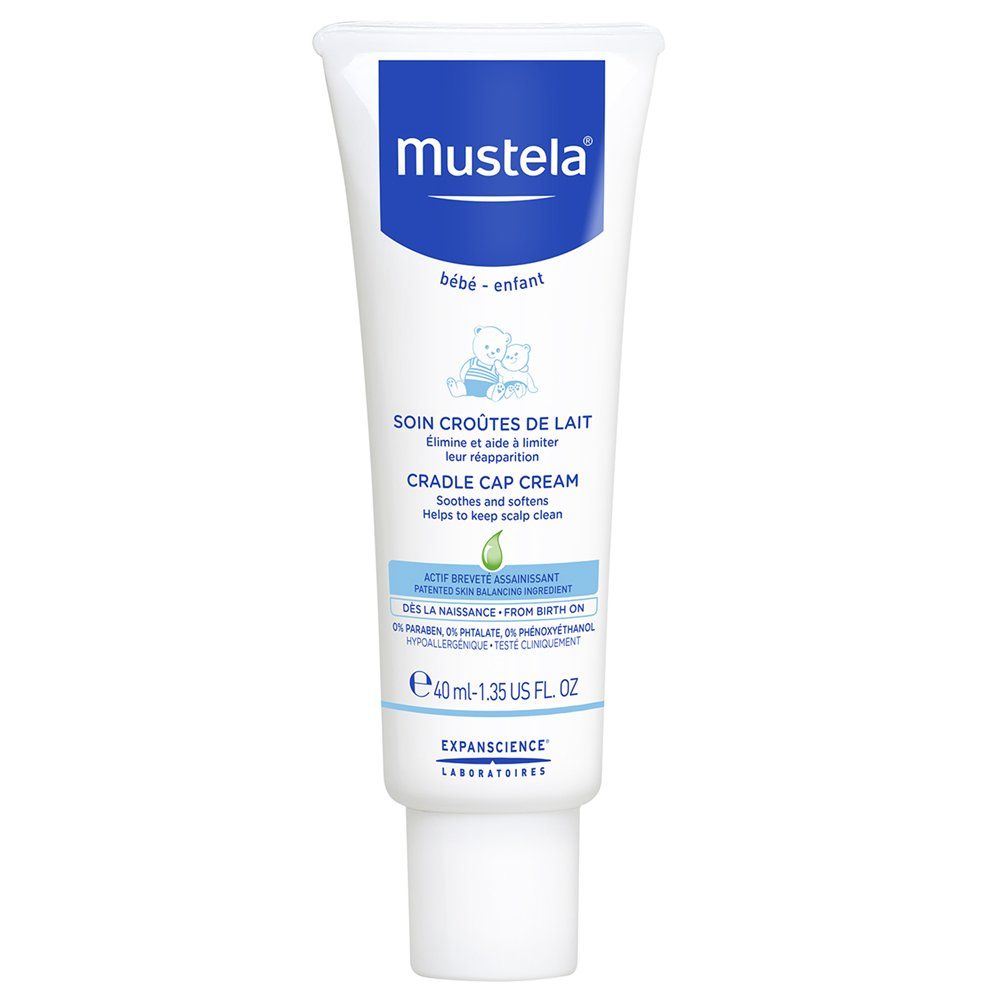Mustela Baby Cradle Cap Cream, Fragrance-Free, with Natural Avocado Perseose, 1.35 Ounce by Mustela