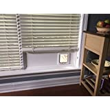 Cat Door Window Insert Custom Built for Your Window. Installs in Minutes and Completely Removable. No Tools Required.
