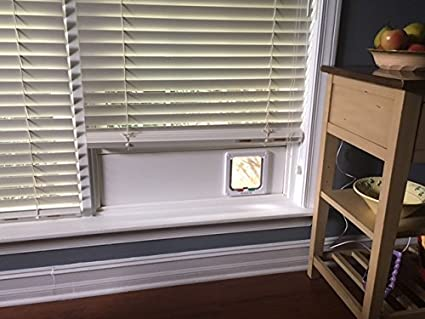 Cat Door For The Window. Installs In Minutes. No Tools Required. Removable.