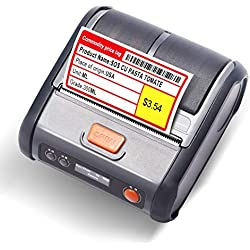 JINGCHEN Portable B3 Thermal Label, Android & iOS, Windows, Used in Clothing & Shoes, Merchandise, Perfume, Drinks and Bread. Barcode, (2.76x1.57in) 180 Labels/roll,1 roll for Free