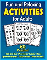 Fun and Relaxing Activities for Adults: Puzzles for People with Dementia [Large-Print]