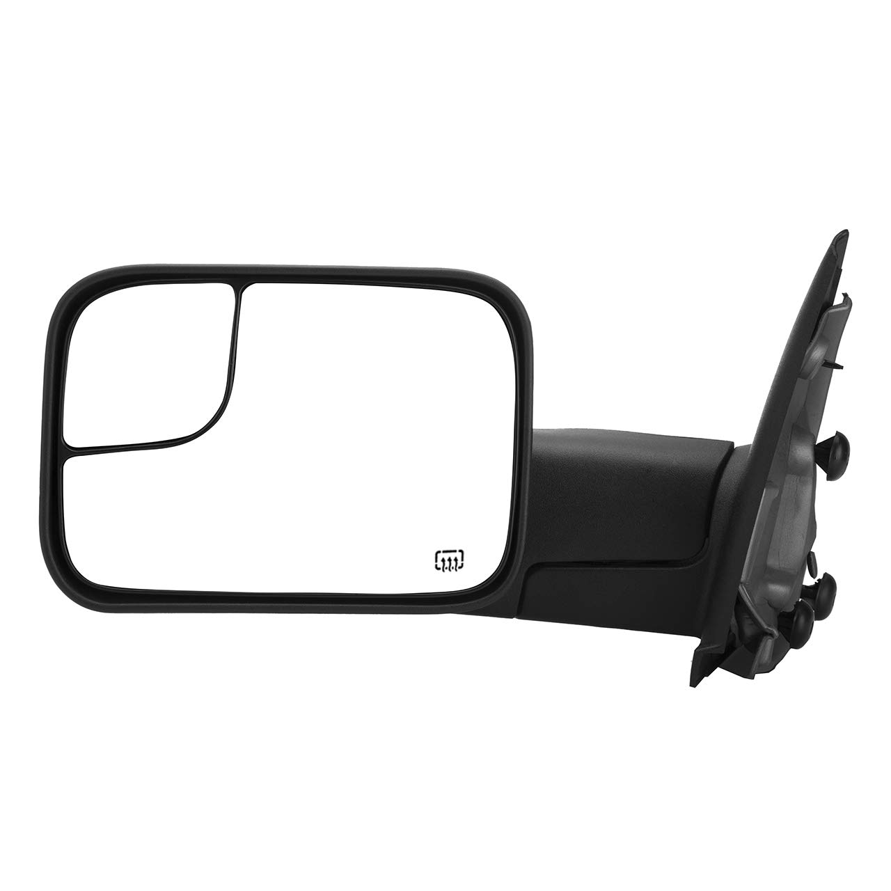 DEDC Dodge Tow Mirrors Dodge Ram Tow Mirrors Power Heated Manual Folding Driver Side For 2002-2008 1500 2003-2009 2500 3500