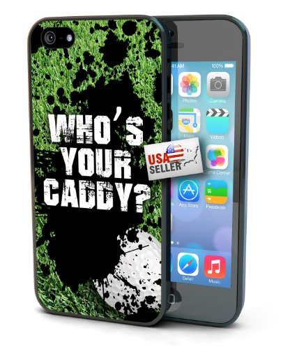 Golf Grunge Who's Your Caddy Sports Black Plastic Cover Case for iPhone 6 Plus (5.5 inch)