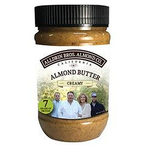 ALLDRIN BROTHERS ALMOND BUTTER, Almond Butter, Creamy, Pack of 6, Size 16 OZ by ALLDRIN BROTHERS ALMOND BUTTER