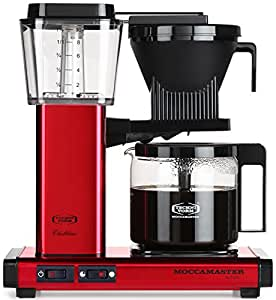 Moccamaster KBG 741 10-Cup Coffee Brewer with Glass Carafe, Red Metallic