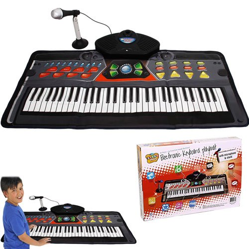 Kids Piano Electronic Keyboard Playmat – 61 Keys + 36 Function Modes Electronic Keyboard Playmat With Mike and Stand