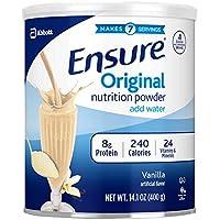 Asegure el polvo original de nutrición con 9 g de proteína por porción, vainilla, 14 onzas