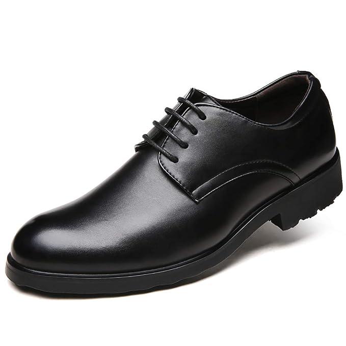 FHTD Zapatos Formales Para Hombres De Piel De Vaca Otoño/Invierno Mocasines Comfort Zapatos Para Caminar: Amazon.es: Ropa y accesorios