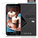 AZION iPhone 8 Plus/7 Plus Screen Protector[2 Pack], 9H Hardness, Full Coverage HD Anti-Scratch Tempered Glass Screen Protector Compatible Apple iPhone 8 Plus 7 Plus 6s Plus 6 Plus
