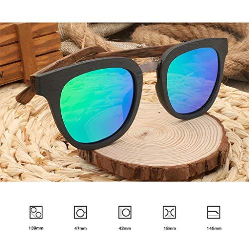 Gafas Color de Cuadrado Marco la Deportivas la sol Moda Hombres los del Green clásicas Gafas polarizadas Gafas Libre Azul Color al de de del Aire con Lente bambú Ix1Ifgq