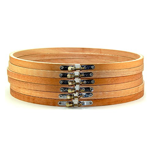 Art Cove 12 inch Large Round Wooden Embroidery Hoops Bulk Wholesale 12 Pieces by Art Cove