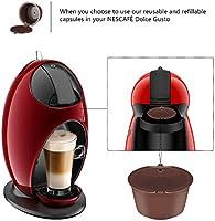 Cápsula de café, cápsulas recargables de Dolce Gusto reutilizables con una cuchara de café Compatible para Nescafe Genio Piccolo Esperta y Circolo: Amazon.es: Hogar