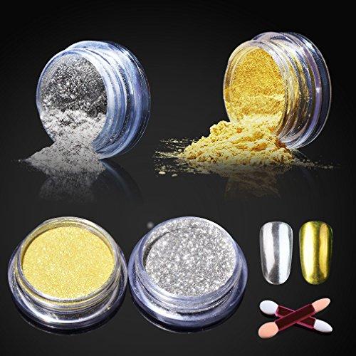 metallic nail chrome powder