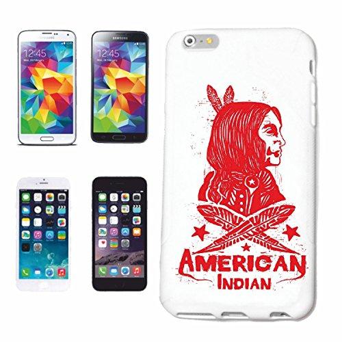 caja del teléfono iPhone 6+ Plus Red Chief AMERICAN INDIAN Índico occidental INDIOS Caso duro de la cubierta Teléfono Cubiertas cubierta para el Apple iPhone en blanco