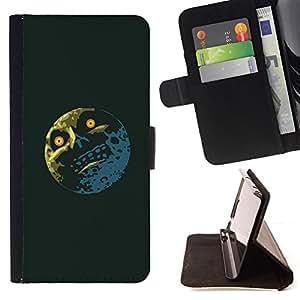 BullDog Case - FOR/Samsung Galaxy Core Prime / - / Troll Lol Meme Moon - Funny /- Monedero de cuero de la PU Llevar cubierta de la caja con el ID Credit Card Slots Flip funda de cuer