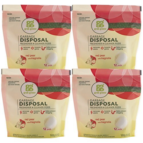 grab-green-natural-garbage-disposal-cleaner-and-freshener-red-pear-with-magnolia-12-pods-pack-of-4