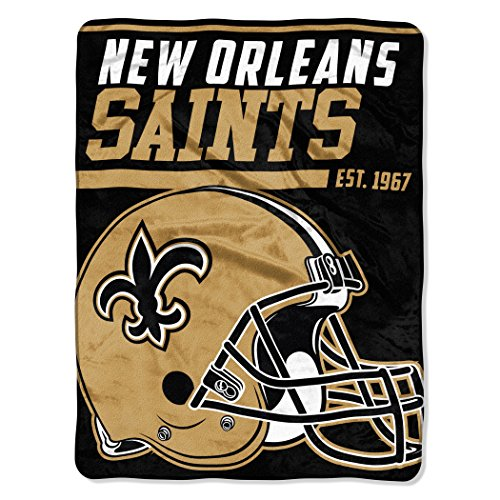 NFL New Orleans Saints 40 Yard Dash Micro Raschel Throw, 46