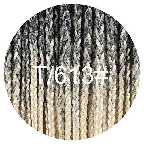 12 16 20 24 30 Inch 22strands/pack Crochet Braids Ombre Braiding Hair Crochet Box Braids Hair Synthetic Hair Extension,2/613,30inches ()
