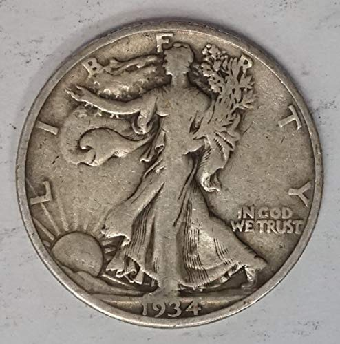 1934 S Walking Liberty Half Dollar 50c Average Circulated