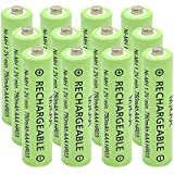 AAA(Not AA) Rechargeable Battery 750mAh High Performance 1.2V Ni-MH AAA Batteries (12 Pack)