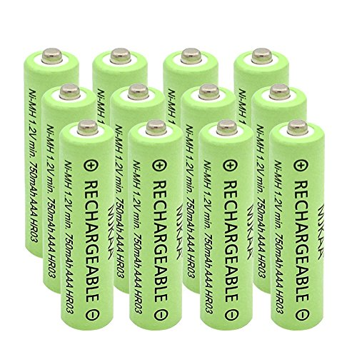 AAA(Not AA) Rechargeable Battery High Performance 1.2V Ni-MH AAA Batteries (12 Pack)