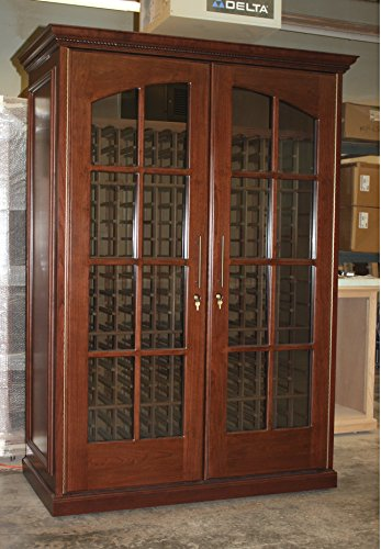 476 Bottles Temperature Controlled Wine Storage Cabinet w/ Breezaire 1060 BTU Cooling Unit (Cabinet Temperature Wine)