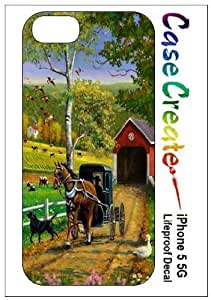Amish Horse & Buggy Decorative Sticker Decal for your iPhone 5 Lifeproof Case