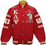 New! Mens Kappa Alpha Psi - Phi Nu Pi Fraternity Racing Style Jacket - Red - Size 2XL
