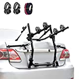 XCAR 2-Bike Trunk Bike Mount Bicycle Rack Carrier for Car, Sedans, Hatchbacks, Minivans, SUVs