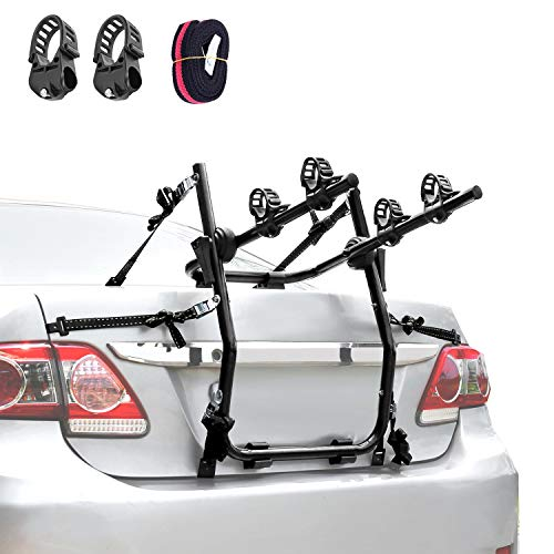 XCAR 2-Bike Trunk Bike Mount Bicycle Rack Carrier for Car, Sedans, Hatchbacks, Minivans, SUVs