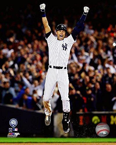 New York Yankees Derek Jeter. The Captain Plays His Last Game At Yankee Stadium 8x10 Photograph Picture. (Jump)