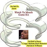 Original Watch Ya Mouth Game Kit with 5 Large 5 Medium Retractors
