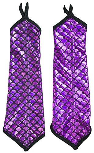 Adult Halloween Costume Accessory - Mermaid Arm Sleeves (pink) ()