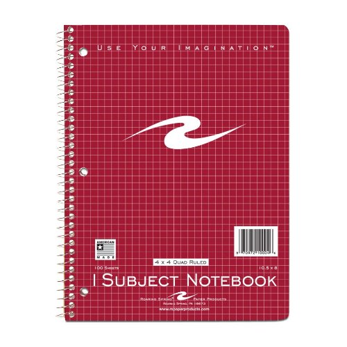 Roaring Spring Wirebound Notebook, One Subject, 10.5 x 8 Inc