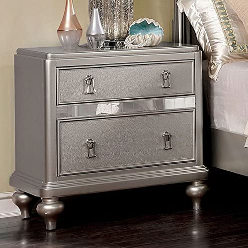 William s Home Furnishing CM7170SV-N Avior Nightstands, Silver
