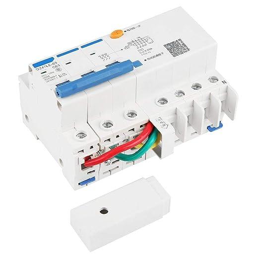 N C63 RCCB disjoncteur courant r/ésiduel 230V 63A 30mA pour appareils m/énagers et outils blanc jardin outils /électriques commutateur de d/éclenchement DZ47LE-63 3P
