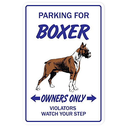 BOXER DOG Sign pet parking breeder lover groomer animal   Indoor/Outdoor   20