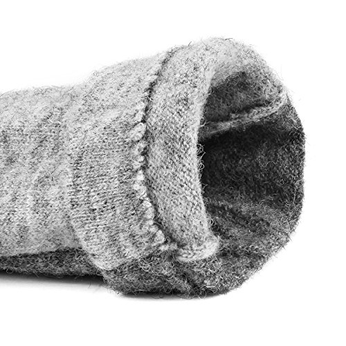 J & J Women Touchscreen Wool Gloves for Cold Weather Daily Commute Driving Walking Running Dog Walking (Gray) by J & J (Image #3)