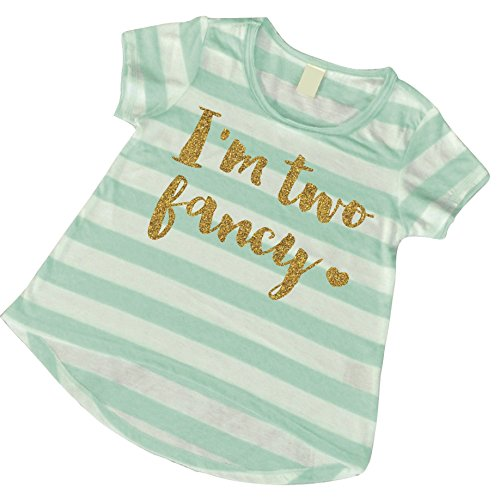 Second Birthday Girl Shirt, Girl I'm Two Fancy Birthday Outfit (24 Months)