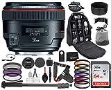Canon EF 50mm f/1.2L USM Lens 1257B002 with Professional Bundle Package Deal Kit for EOS 7D Mark II, 6D Mark II, 5D Mark IV, 5D S R, 5D S, 5D Mark III, 80D, 70D, 77D, T5, T6, T6s, T7i, SL2