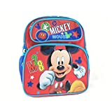 """Small Backpack - Disney - Mickey Mouse M28 12"""" Red New 676469"""
