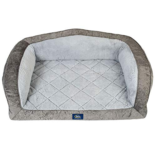 (Serta Perfect Sleeper Camel-Back Couch Pet Bed)