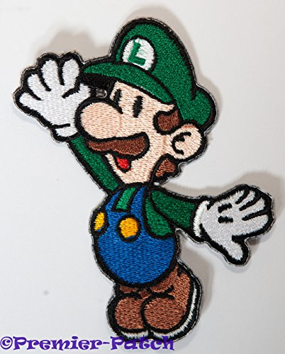 UPC 797337701020, Luigi Patch Embroidered Iron on Badge Applique Costume Cosplay Mario Kart / Snes / Mario World / Super Mario Brothers / Mario Allstars