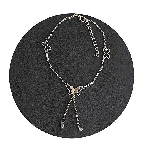 CAIYCAI Anklets Foot Chain Summer Beach Leg Bracelet Handmade Anklet Rose Gold Silver Color Jewelry,Rose Gold Color