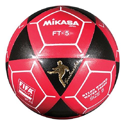 Mikasa ft5 Goal Master Soccer Ball、ブラック/レッド、サイズ5 B07B9Y5S33