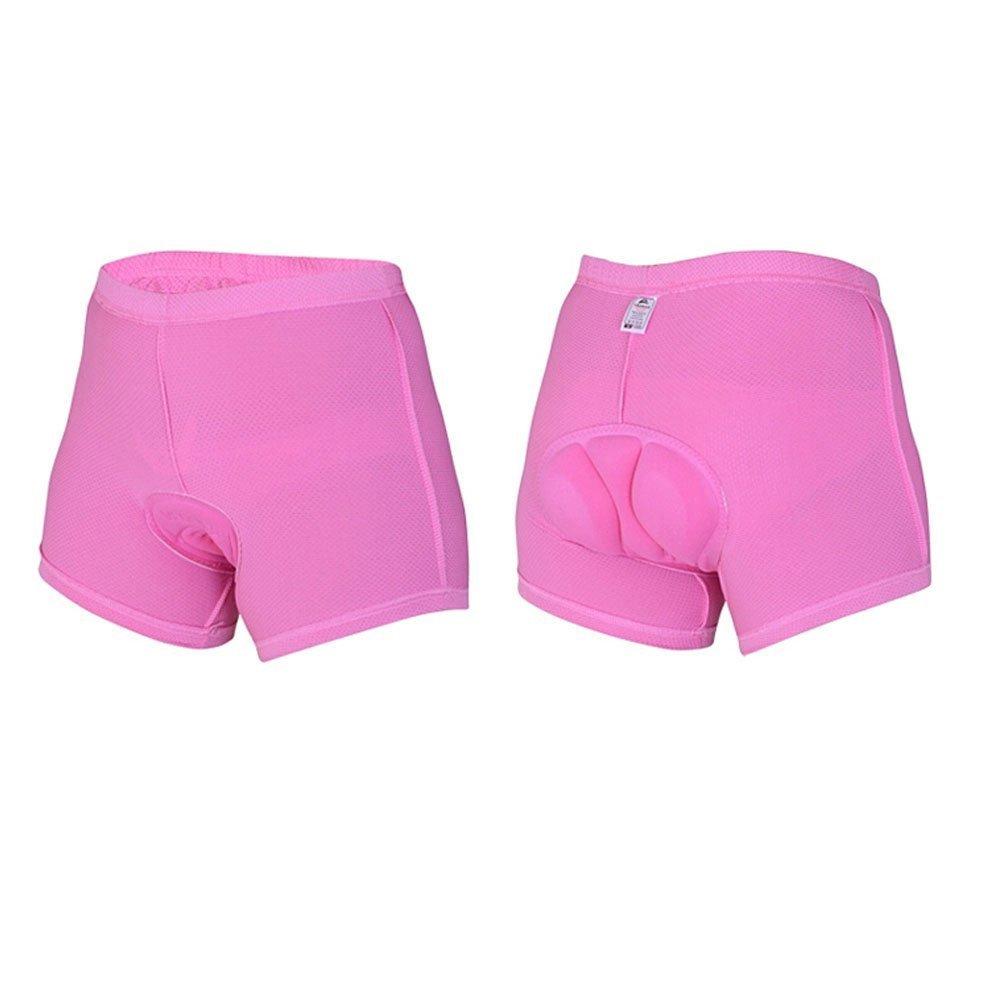 Xcellent Global Garniture de silicone 3D Professinal perméabilité de l'air élevée Faire du vélo/équestre Pantalon court Sous-vêtements Shorts S/M/L/XL Taille disponible Pour Femme M-FS015