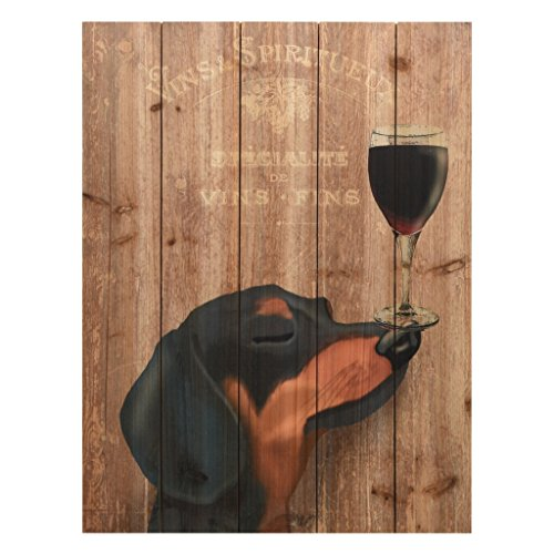 Empire Art Direct Dog Au Vin Dachshund, 24 in. x 18 for sale  Delivered anywhere in USA