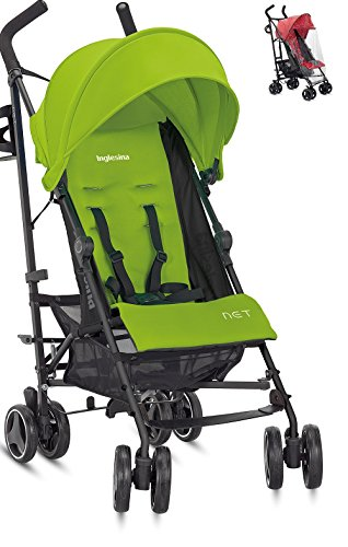 Inglesina Net Stroller (Citronella) and Inglesina Rain Cover by Inglesina