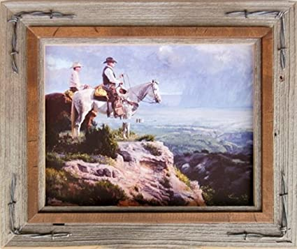 Amazoncom 8x10 Hobble Creek Western Barnwood Picture Frame With
